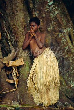 Young Tanna girl, Tanna Island, Vanuatu, Melanesia, Pacific Islands    Stock Photo - Rights-Managed, Artist: Robert Harding Images, Code: 841-02709421