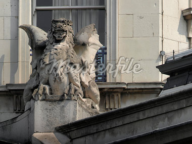 Gargoyle detail, Smithfield, London.    Stock Photo - Premium Rights-Managed, Artist: Arcaid, Code: 845-02725864