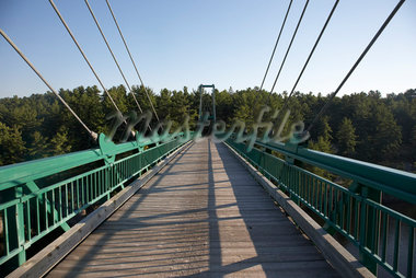 Suspension Bridge Over the French River in Summer, Northern Ontario, Canada Stock Photo - Premium Rights-Managed, Artist: Derek Shapton, Code: 700-02791655