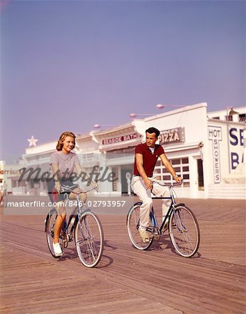 Bikes Jersey Shore JERSEY SHORE Stock Photo
