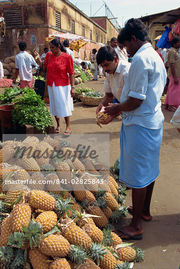 Market vendor selling pineapples, main market area, Kandy, Sri Lanka, Asia    Stock Photo - Direito Controlado, Artist: Robert Harding Images, Code: 841-02825843