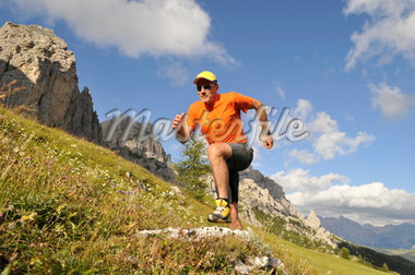 person jogging, Trentino Alto Adige italy Stock Photo - Premium Rights-Managed, Artist: F1Online, Code: 853-02914120