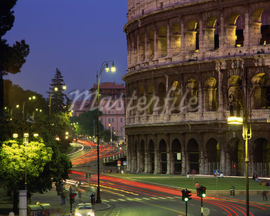 The Colosseum illuminated at night in Rome, Lazio, Italy, Europe Stock Photo - Premium Rights-Managed, Artist: Robert Harding Images, Code: 841-02918500
