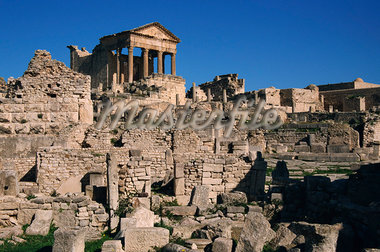 Roman ruins, The Capitol, Dougga, UNESCO World Heritage Site, Tunisia, North Africa, Africa Stock Photo - Premium Rights-Managed, Artist: Robert Harding Images, Code: 841-02918713