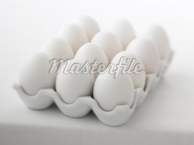 Close up of a dozen eggs Stock Photo - Premium Royalty-Freenull, Code: 635-02942891