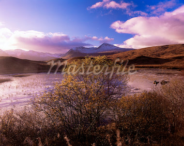 Rannoch Moor, Black Mount, Strathclyde, Scotland, United Kingdom, Europe                                                                                                                                 Stock Photo - Premium Rights-Managed, Artist: Robert Harding Images, Code: 841-02946724