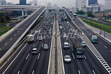 Highway, Odaiba, Tokyo, Kanto Region, Honshu, Japan Stock Photo - Premium Rights-Managed, Artist: Rudy Sulgan              , Code: 700-02957740