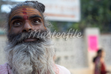 Close-up of Man, Rishikesh, Uttarakhand, India                                                                                                                                                           Stock Photo - Premium Rights-Managed, Artist: Sarah Murray             , Code: 700-02957969