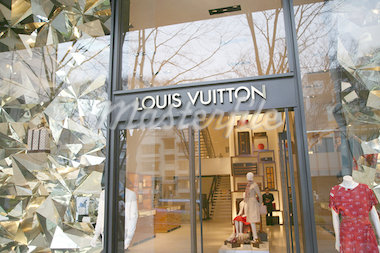 Exterior of Louis Vuitton on Omotesando Avenue,Tokyo,Japan                                                                                                                                               Stock Photo - Premium Rights-Managed, Artist: Axiom Photographic       , Code: 851-02961231
