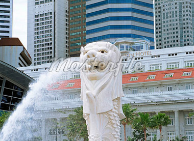 The Merlion                                                                                                                                                                                              Stock Photo - Premium Rights-Managed, Artist: Oriental Touch           , Code: 855-02987824