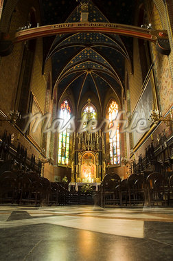 Interior of a Franciscan church, Krakow (Cracow), UNESCO World Heritage Site, Poland, Europe                                                                                                             Stock Photo - Premium Rights-Managed, Artist: Robert Harding Images, Code: 841-02992842
