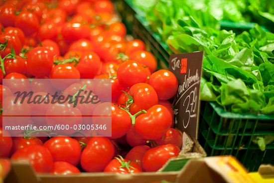 Tomatoes at Market Stock Photo - Premium Royalty-Free, Artist: Holger Hill              , Code: 600-03005346