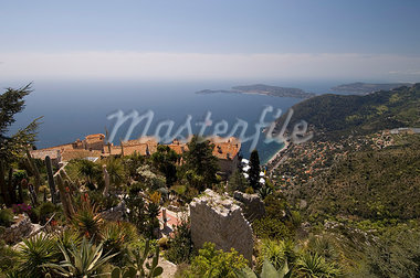Eze village and Cap Ferrat, Alpes Maritimes, Provence, Cote d'Azur, French Riviera, France, Mediterranean, Europe                                                                                        Stock Photo - Premium Rights-Managed, Artist: Robert Harding Images    , Code: 841-03057937