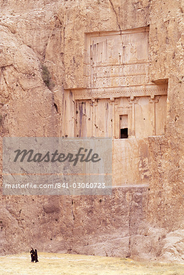 Tomb of Xerxes, Naqsh-e Rostam (Naqsh-i-Rustem), Iran, Middle East                                                                                                                                       Stock Photo - Premium Rights-Managed, Artist: Robert Harding Images    , Code: 841-03060723