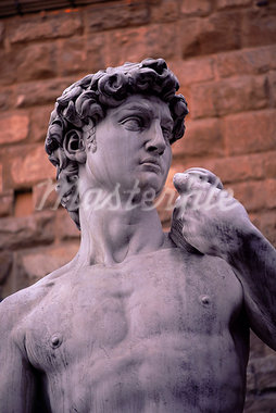 Michelangelo's David, Piazza della Signoria, Florence, Tuscany, Italy, Europe                                                                                                                            Stock Photo - Premium Rights-Managed, Artist: Robert Harding Images    , Code: 841-03064159