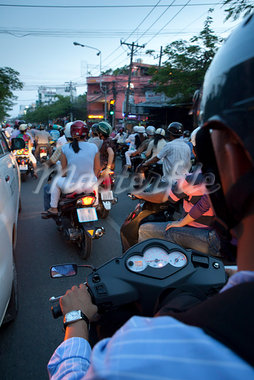 Motorcyclists in Ho Chi Minh City, Vietnam                                                                                                                                                               Stock Photo - Premium Rights-Managed, Artist: Pierre Arsenault         , Code: 700-03069436