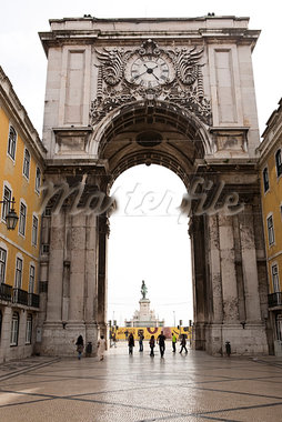 Arco da Rua Augusta, Praca do Comercio, Lisbon, Portugal Stock Photo - Premium Rights-Managed, Artist: Arian Camilleri, Code: 700-03230217
