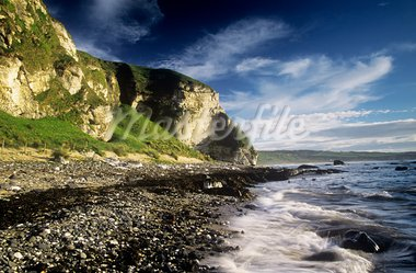 Rock formations at the coast, Ballintoy, County Antrim, Northern Ireland Stock Photo - Premium Rights-Managed, Artist: IIC, Code: 832-03232254