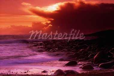 Tory Island, County Donegal, Ireland; Seascape and sunset Stock Photo - Premium Rights-Managed, Artist: IIC, Code: 832-03232966