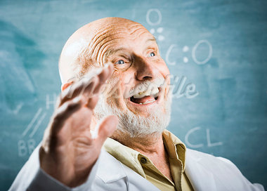 Male science teacher talking Stock Photo - Premium Royalty-Freenull, Code: 640-03260890