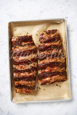 Ribs in Baking Tray Stock Photo - Premium Rights-Managed, Artist: Angus Fergusson, Code: 700-03265804