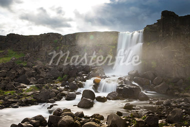 Oxararfoss Waterfall at Thingvellir National Park, Iceland Stock Photo - Premium Rights-Managed, Artist: Atli Mar Hafsteinsson, Code: 700-03294867
