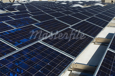 Solar Panels at Solar Power Plant Stock Photo - Premium Royalty-Freenull, Code: 693-03312757