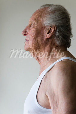 Profile of Senior Man Stock Photo - Premium Royalty-Free, Artist: Bryan Reinhart, Code: 600-03333397