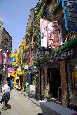 The colourful shops of Neals Yard,near Covent Garden. Stock Photo - Premium Rights-Managed, Artist: AWL Images, Code: 862-03353161