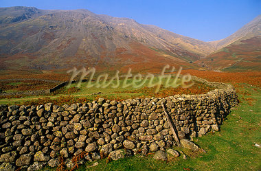 England,Cumbria,Lake District. Field drystone wall in the Eskdale valley. Stock Photo - Premium Rights-Managed, Artist: AWL Images, Code: 862-03353449