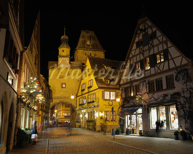 Markus Tower and Shops, Rothenburg ob der Tauber, Bavaria, Germany Stock Photo - Premium Rights-Managed, Artist: Raimund Linke, Code: 700-03368541