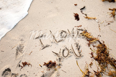 I Love You Written in Sand Stock Photo - Premium Rights-Managed, Artist: Brian Kuhlmann, Code: 700-03408083
