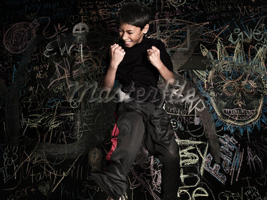Boy Making Fists and Jumping Stock Photo - Premium Rights-Managed, Artist: Brian Kuhlmann, Code: 700-03408097