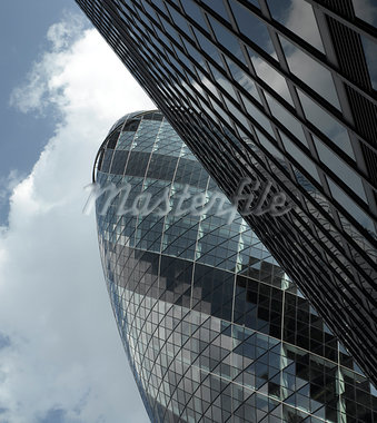 30 St Mary Axe, The Gherkin, City of London, London. Architects: Foster and Partners Stock Photo - Premium Rights-Managed, Artist: Arcaid, Code: 845-03463406