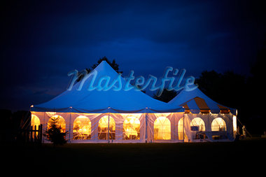 Tent in Field at Dusk, near Stratford, Ontario, Canada Stock Photo - Premium Rights-Managed, Artist: Derek Shapton, Code: 700-03484954