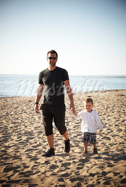 Father and Son Walking on Beach, Sauble Beach, Ontario Stock Photo - Premium Rights-Managed, Artist: Derek Shapton, Code: 700-03520603