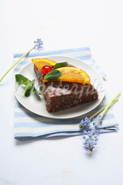 Chocolate rice dessert with caramelised orange Stock Photo - Premium Royalty-Freenull, Code: 659-03537104