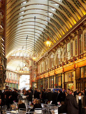 Leadenhall Market, London.  Architects: Sir Horace Jones Stock Photo - Premium Rights-Managed, Artist: Arcaid, Code: 845-03553052
