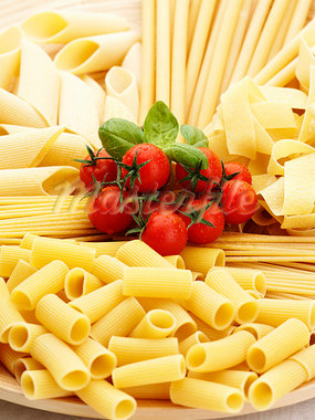 Italian cuisine. Pasta and tomatoes. Stock Photo - Premium Royalty-Freenull, Code: 618-03572996