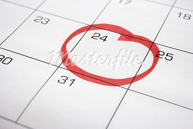 Calendar with 24th Circled Stock Photo - Premium Royalty-Free, Artist: Ron Fehling, Code: 600-03615724