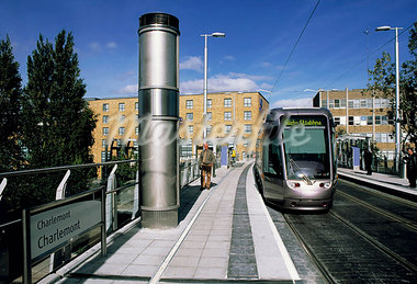 The Luas Light Railway, Charlemont Station, Dublin, Ireland Stock Photo - Premium Rights-Managed, Artist: IIC, Code: 832-03639372