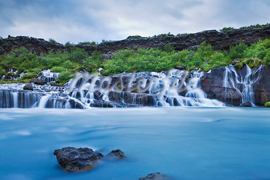 Hraunfossar Waterfalls, Borgarfjoraur, Iceland Stock Photo - Premium Rights-Managed, Artist: Atli Mar Hafsteinsson, Code: 700-03660246