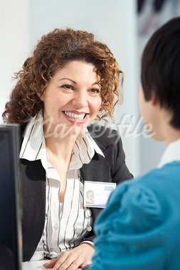 Friendly customer service Stock Photo - Premium Royalty-Freenull, Code: 649-03666511
