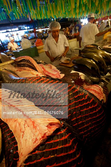 At the central market of Manaus, Brazil, South America Stock Photo - Direito Controlado, Artist: Robert Harding Images, Code: 841-03676076