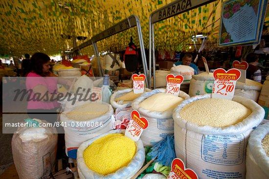 Manioc flour, Ver o Peso market of Belem, Brazil, South America Stock Photo - Direito Controlado, Artist: Robert Harding Images, Code: 841-03676086