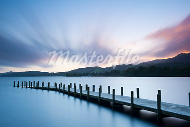 Dock on Coniston Water, Keswick, Cumbria, England Stock Photo - Premium Rights-Managed, Artist: JW, Code: 700-03682146