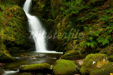 Waterfall, Snowdonia National Park, Wales Stock Photo - Premium Rights-Managed, Artist: JW, Code: 700-03682151