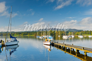 Sailboats on Lake Windermere, Lake District, Cumbria, England Stock Photo - Premium Rights-Managed, Artist: JW, Code: 700-03682157
