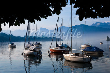 Boats on Lake Lucerne, Lucerne, Switzerland Stock Photo - Premium Rights-Managed, Artist: R. Ian Lloyd, Code: 700-03696863
