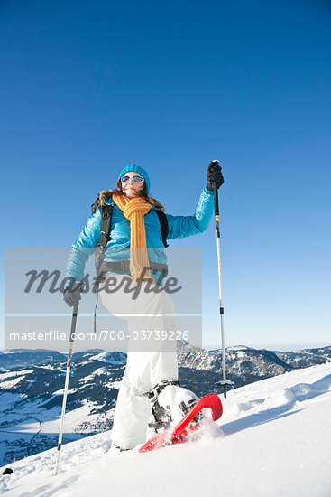 Woman Snowshoeing Stock Photo - Premium Rights-Managed, Artist: Uwe Umstätter, Code: 700-03739226